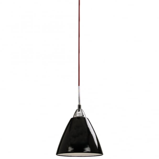 Modern retro hanging black pendant light for hight ceilings read small gloss black ceiling pendant light aloadofball Gallery