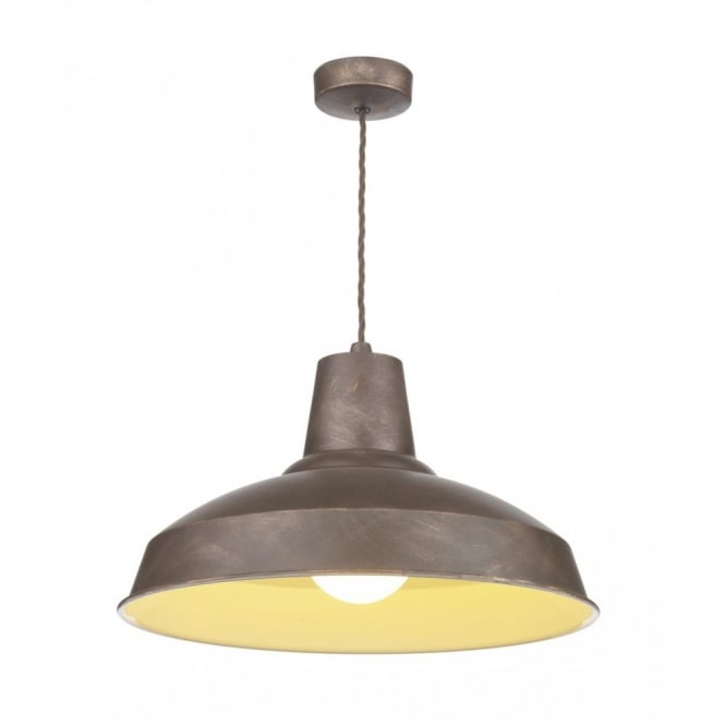 reclaimed industrial lighting. RECLAMATION Industrial Style Ceiling Pendant Light, Weathered Bronze Reclaimed Lighting I