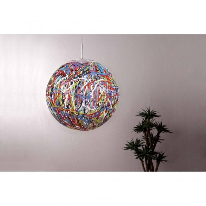 Reload Italian Designer Large Multicoloured Globe Pendant Light - Italian light fixtures