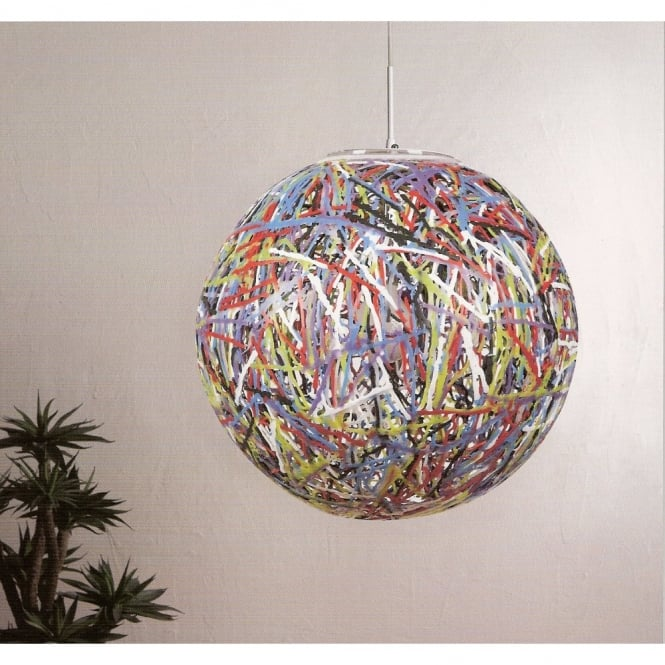 more photos d5536 cb8d1 RELOAD Italian designer multi coloured globe pendant light