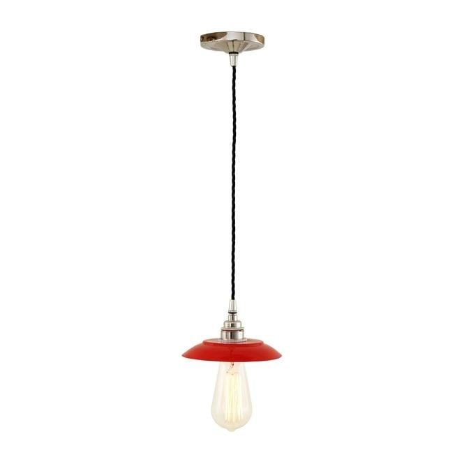 REZNOR Industrial Pendant Light in Powder Coated Red
