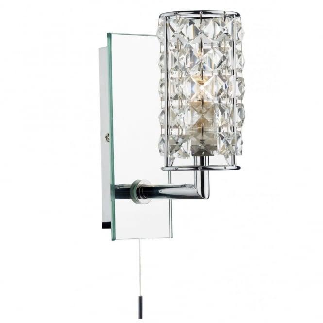Bathroom Wall Lights With Pull Cord >> Rhodes Crystal Bathroom Wall Light