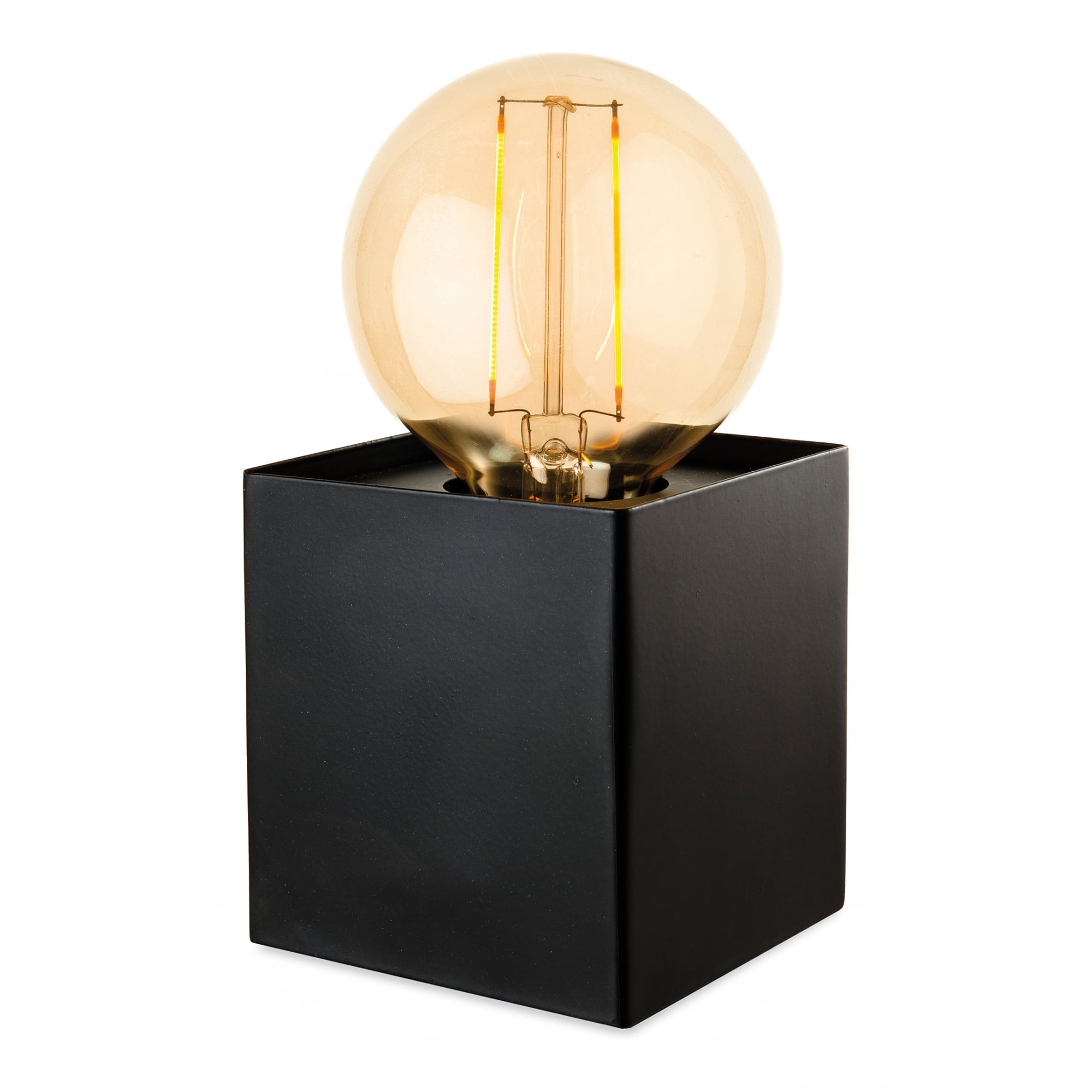 Small Black Box Table Lamp Great For Desk Lighting