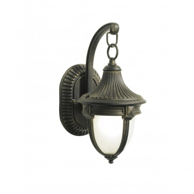 The Lighting Book RICHMOND small traditional black gold garden wall light b2dbb3da1b65