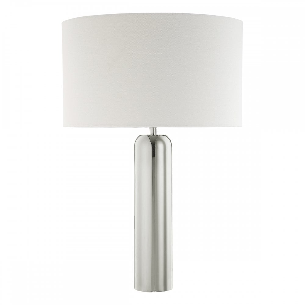 RIFLE polished stainless steel table lamp base (tall)