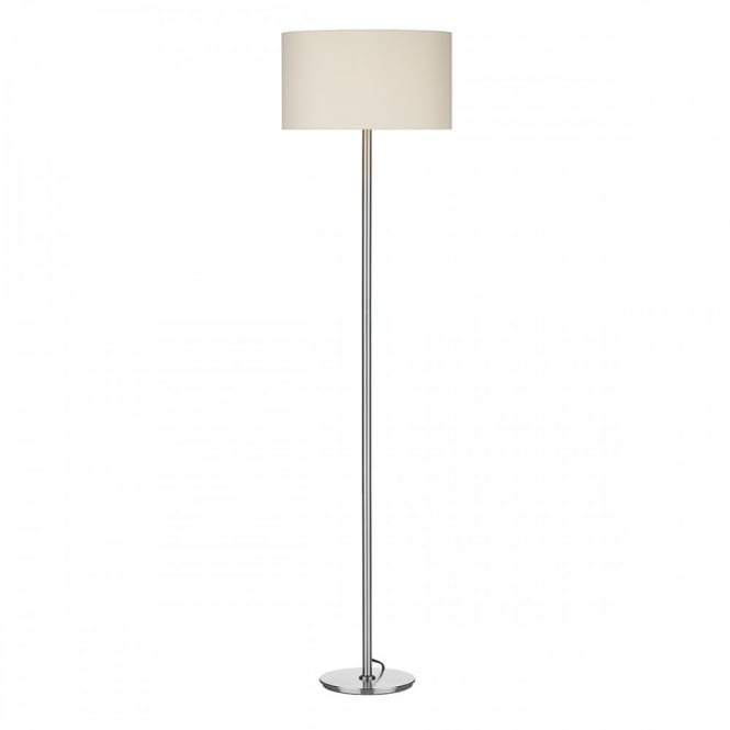 Contemporary Floor lamp chrome with cream shade. Ideal for hotel guests