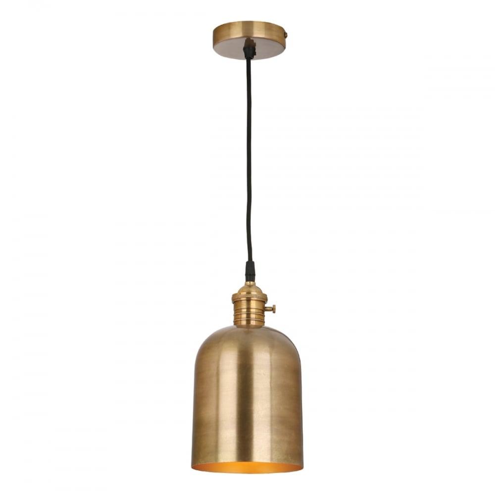 Rodrigo single industrial antique brass ceiling pendant