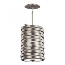 contemporary brushed nickel ceiling pendant light