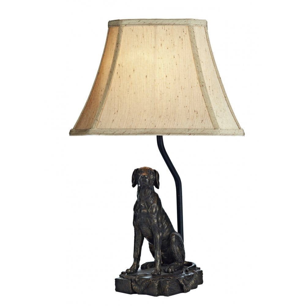 Sitting Dog Industrial Pipe Table Lamp