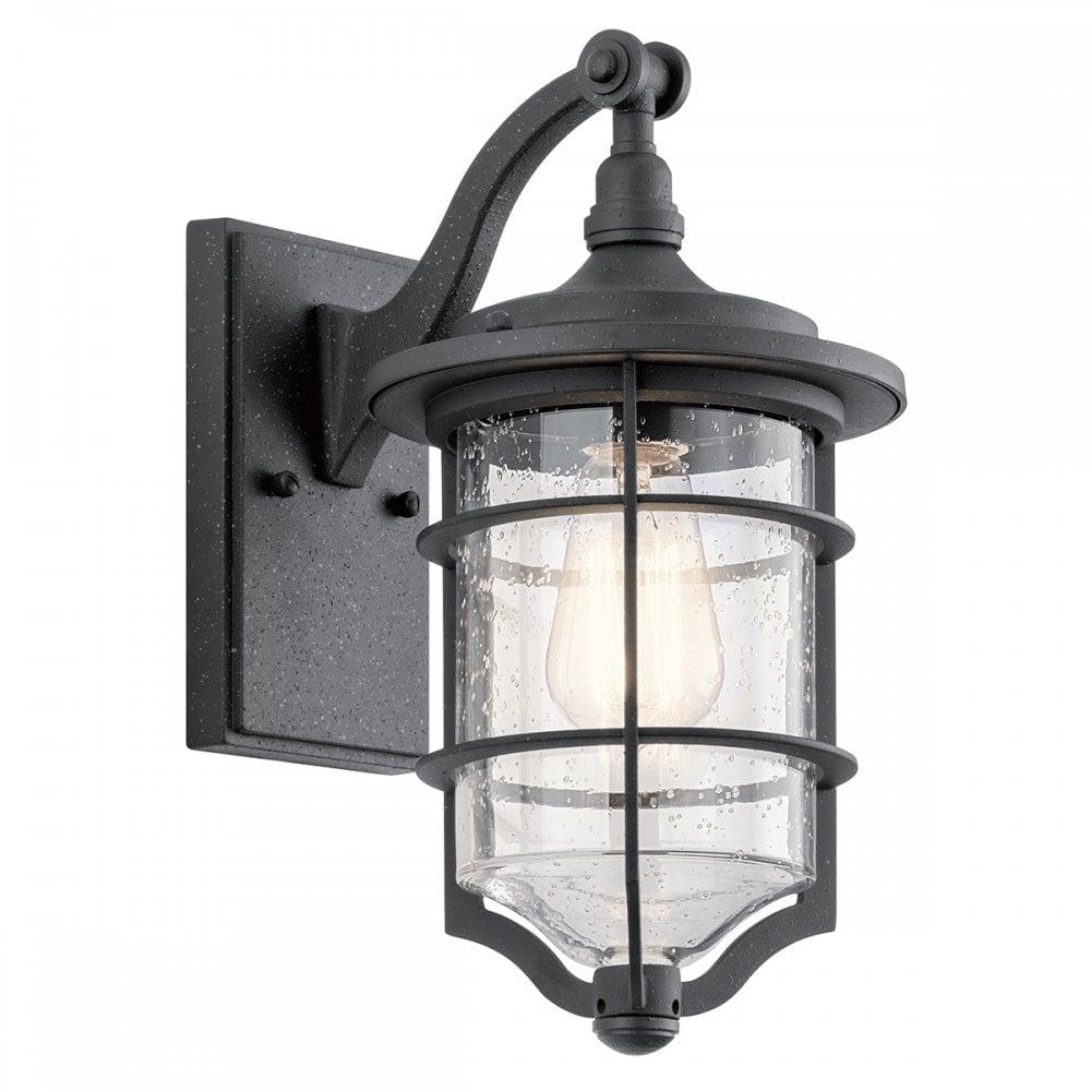 Nautical Style Outdoor Wall Lantern In Black Finish Lighting Company
