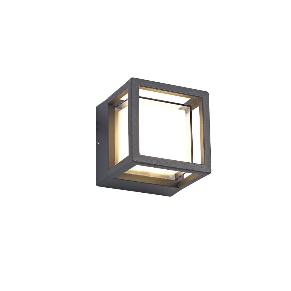 Outdoor Square Led Light In Anthracite Finish With Opal Diffuser