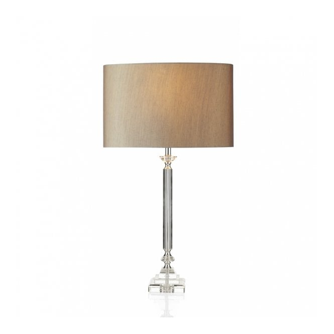 Sahara Luxe Crystal Table Lamp With Silver Shade