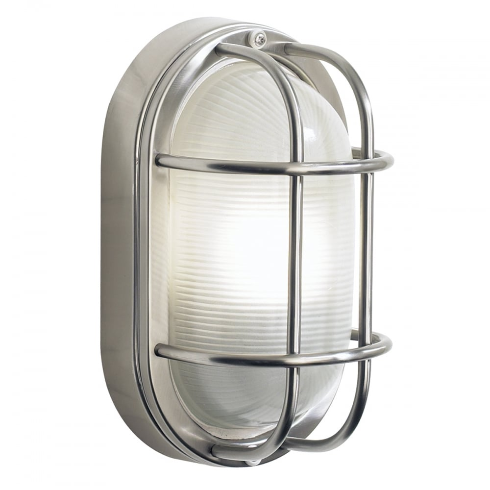 Salcombe Stainless Steel IP44 Garden Wall Light 2fd6d0fab935