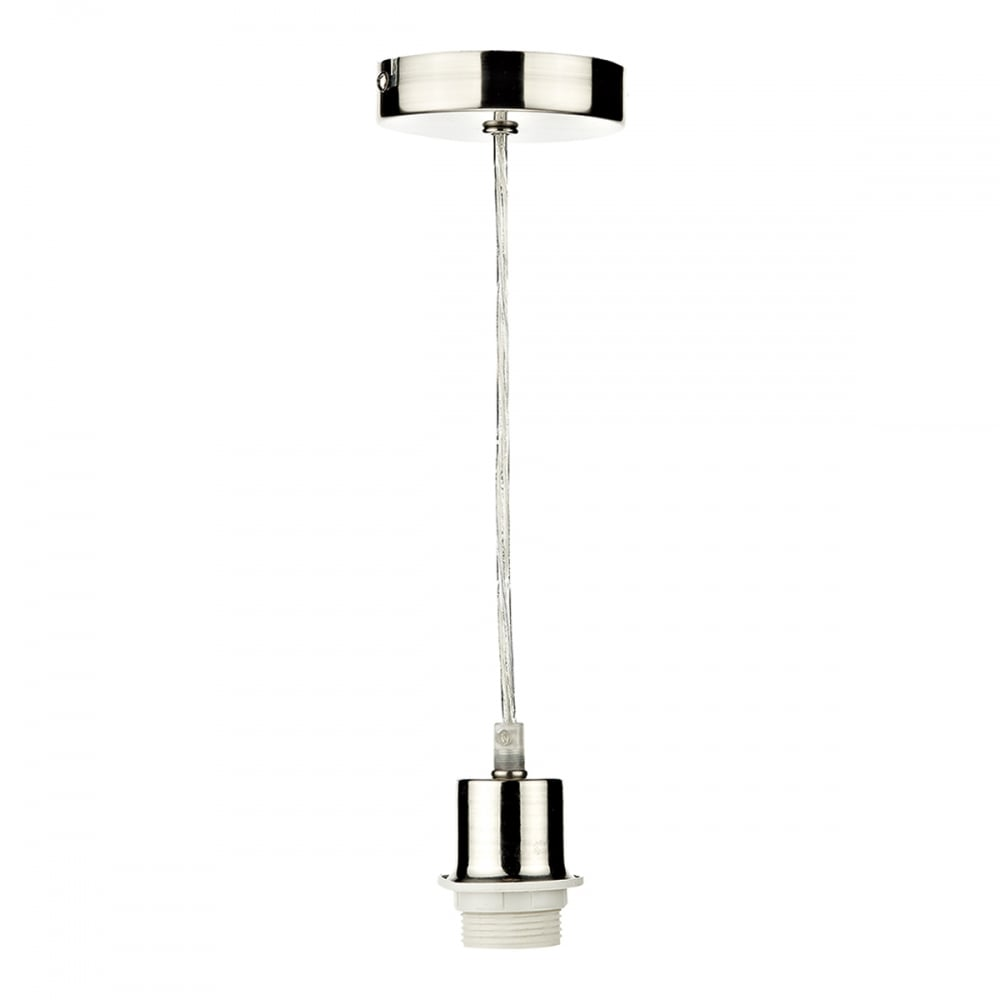 SATIN CHROME PENDANT SUSPENSION with clear cable