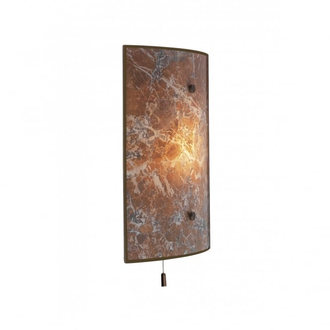SAVOY brown marbled wall light