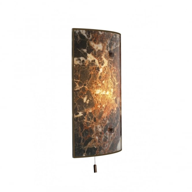 Marble effect wall light for traditional properties pull cord switch savoy dark marble panel wall light aloadofball Gallery