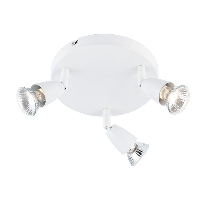 Saxby Lighting AMALFI 3 light spotlight cluster in white