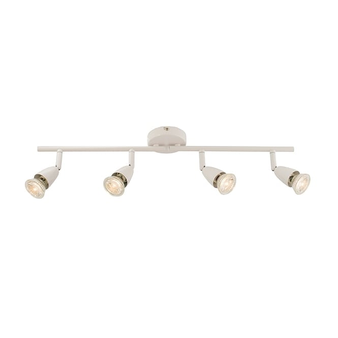 Saxby Lighting AMALFI 4 light spotlight bar in white finish