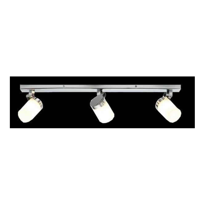 Modern chrome bathroom spotlight bar ip44 rated dimmable adjustable cosmo chrome bathroom ceiling spotlight bar 3lt aloadofball Images
