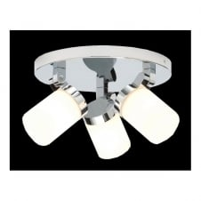 COSMO chrome bathroom ceiling spotlight cluster 3lt