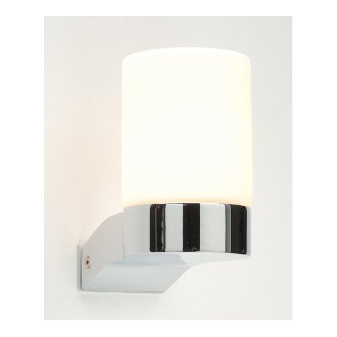 Saxby lighting cosmo chrome bathroom wall light with white glass saxby lighting cosmo chrome bathroom wall light with white glass shade aloadofball Images