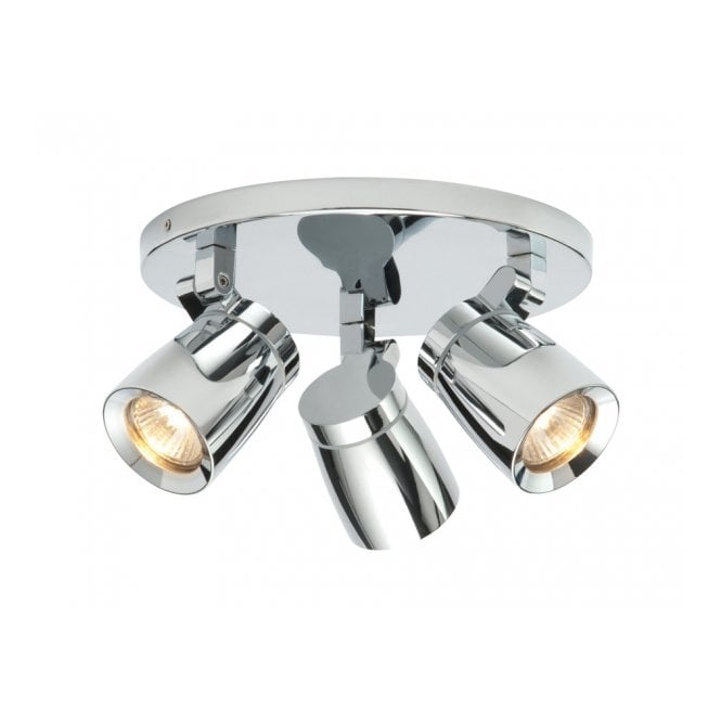 Saxby Lighting KNIGHT bathroom ceiling spotlight cluster 3 lt