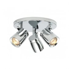 KNIGHT bathroom ceiling spotlight cluster 3 lt