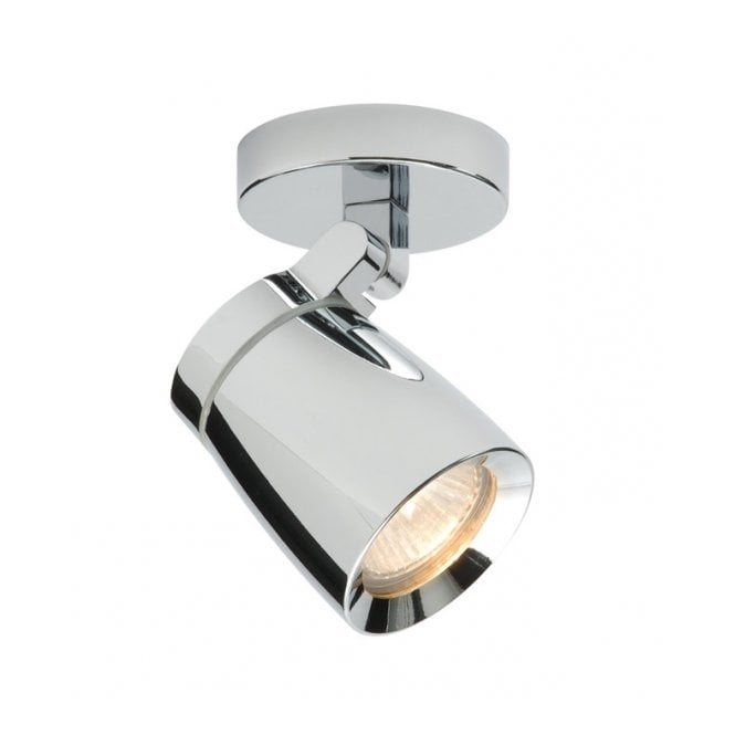 Saxby Lighting KNIGHT single chrome bathroom spotlight