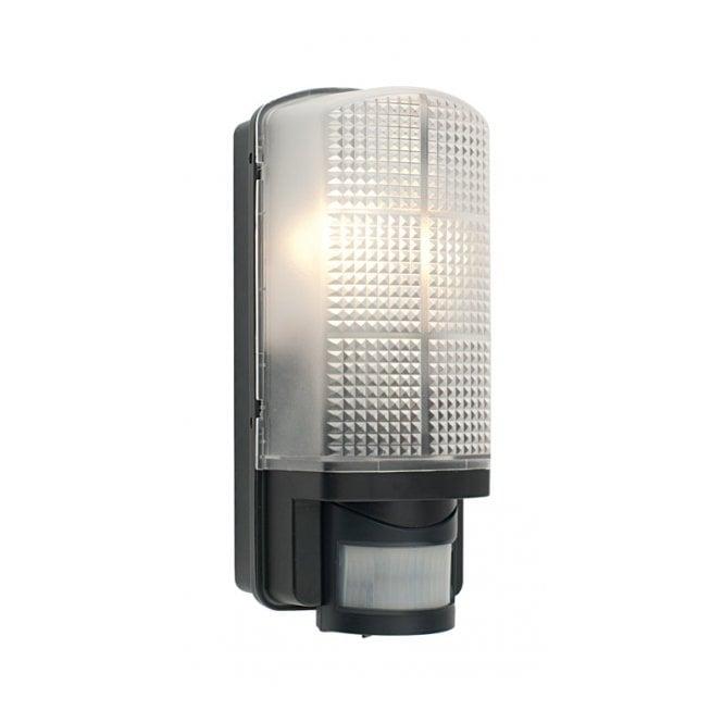 Black exterior bulkhead light ip44 pir sensor security light motion exterior bulkhead light with sensor black mozeypictures Choice Image