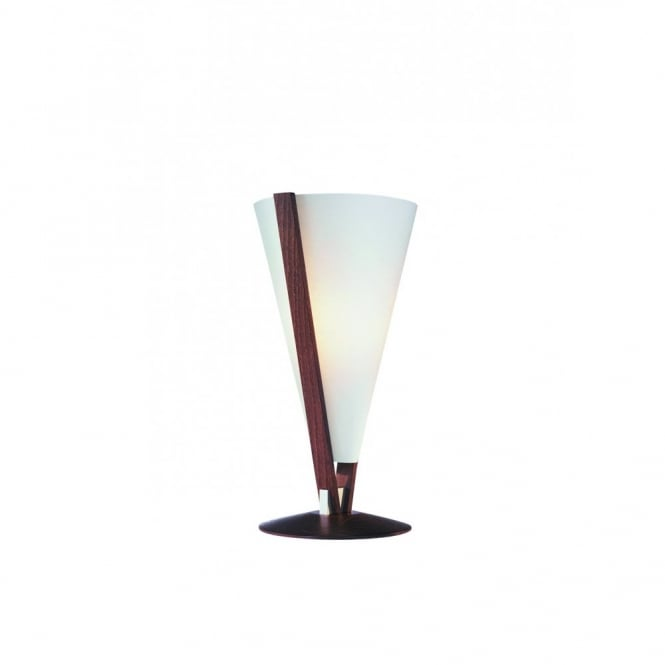 SEBA contemporary wooden table lamp (maron oiled)