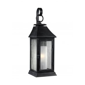 SHEPHERD small exterior wall lantern in weathered zinc