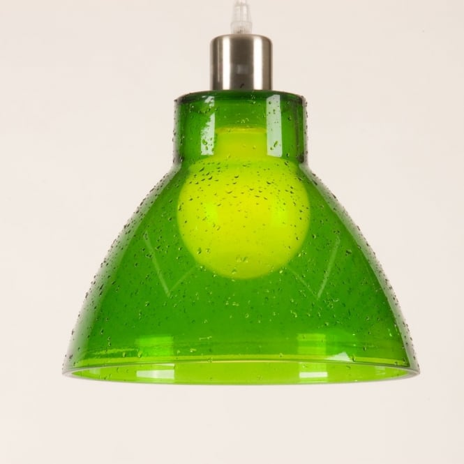 Retro green glass ceiling pendant light shade funky kitchen lights sino green droplet effect glass pendant light shade part of a set aloadofball Image collections