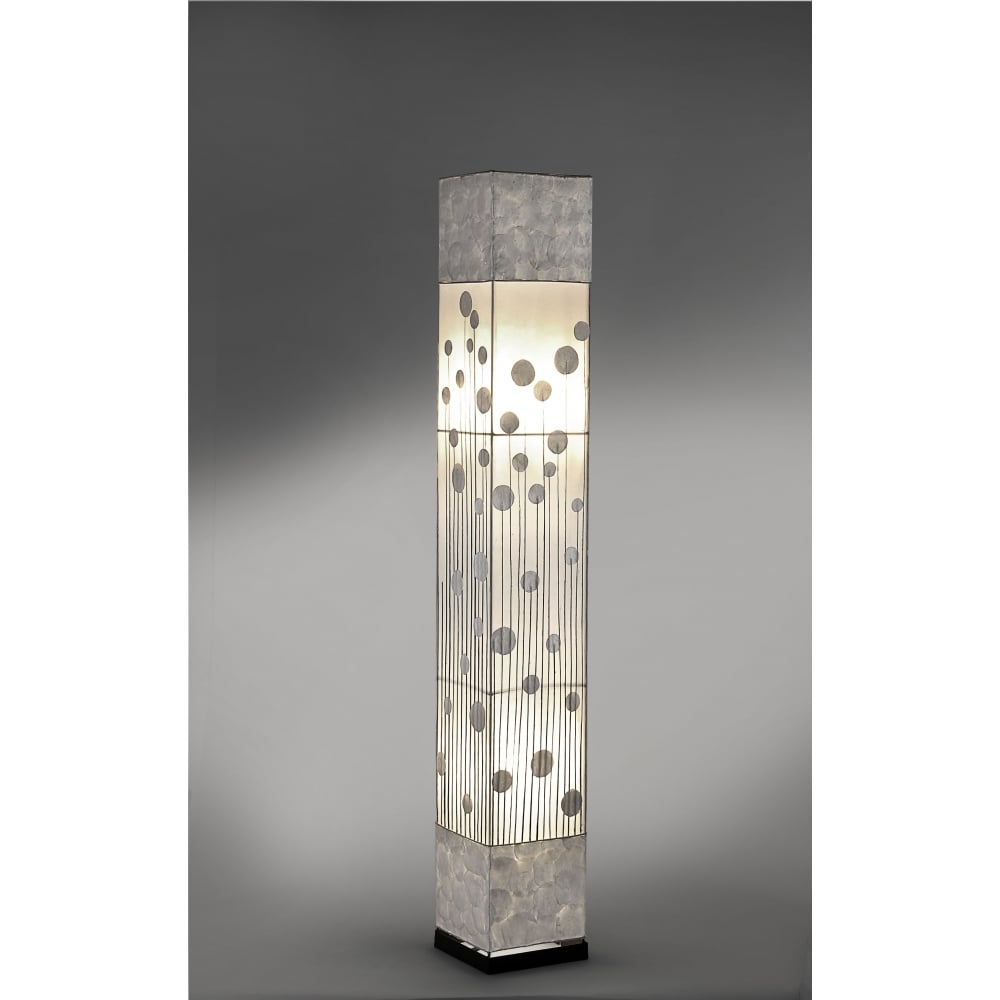 contemporary patterned silver floor lamp - Decorative Contemporary Floor Lamp With Frosted Diffuser