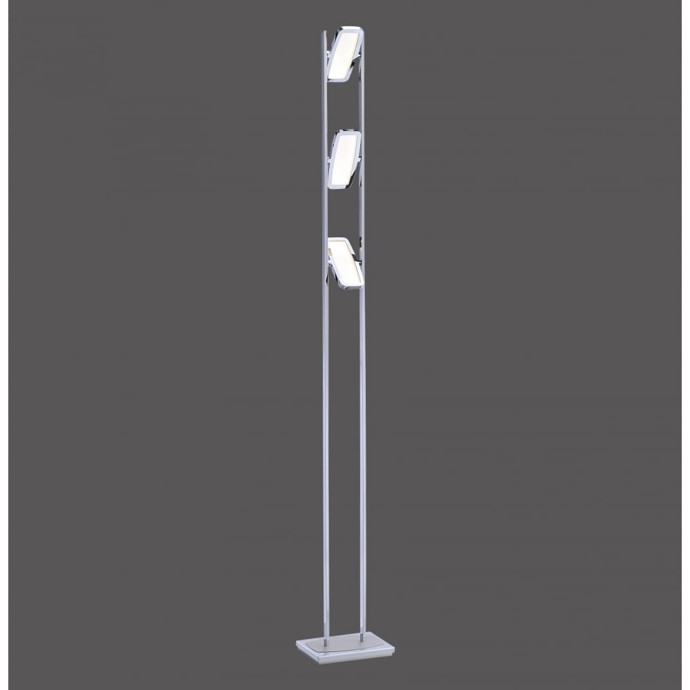 Contemporary Led Polished Chrome 3 Light Floor Lamp