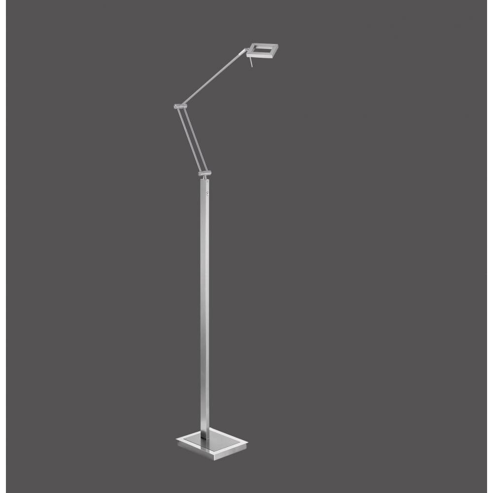 Modern adjustable led floor lamp in brushed steel finish contemporary adjustable led floor lamp in brushed steel aloadofball Image collections