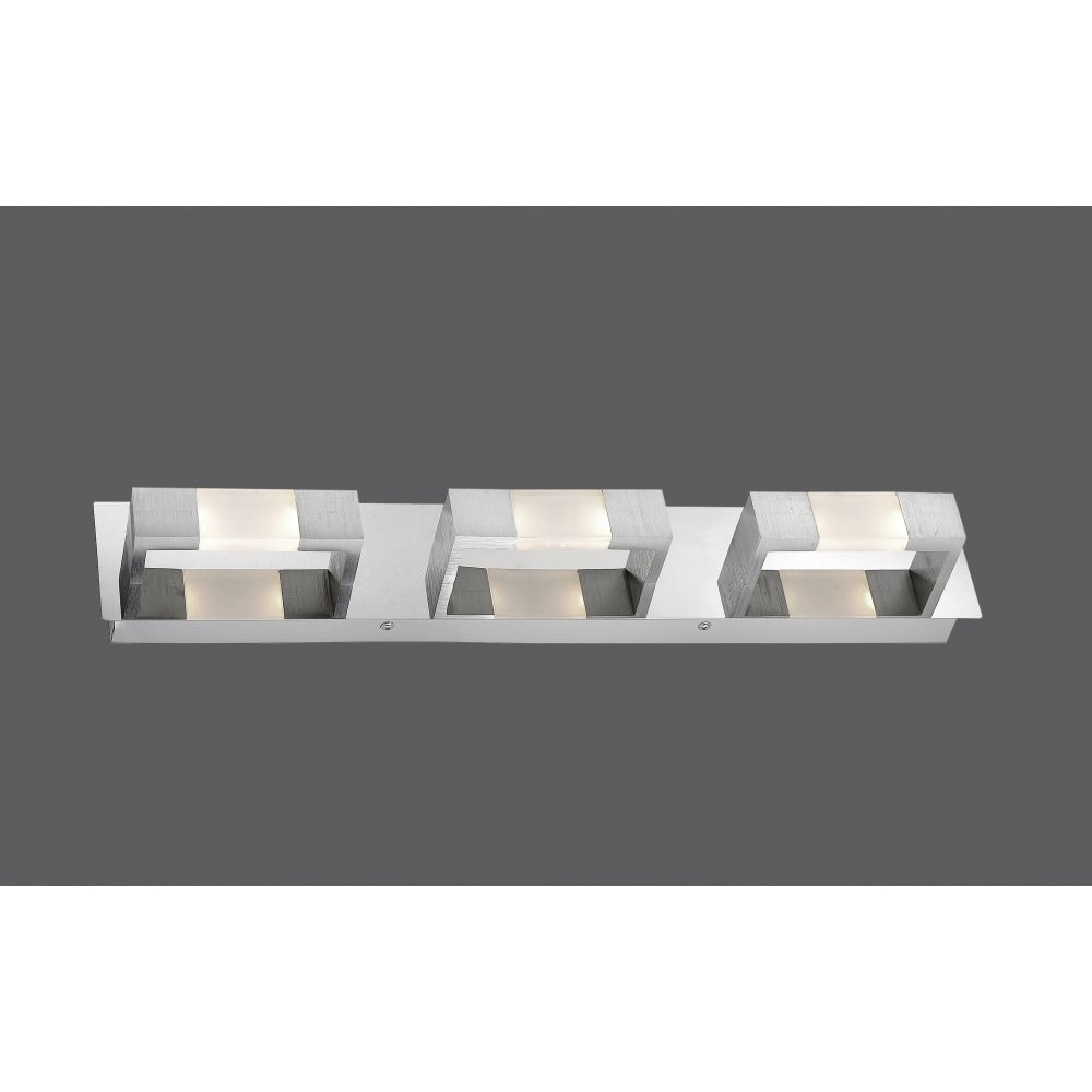 contemporary flush rectangular led ceiling light in matte aluminium. Black Bedroom Furniture Sets. Home Design Ideas