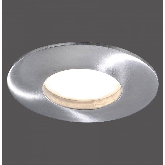 LUMECO recessed LED bathroom spotlight in aluminium finish