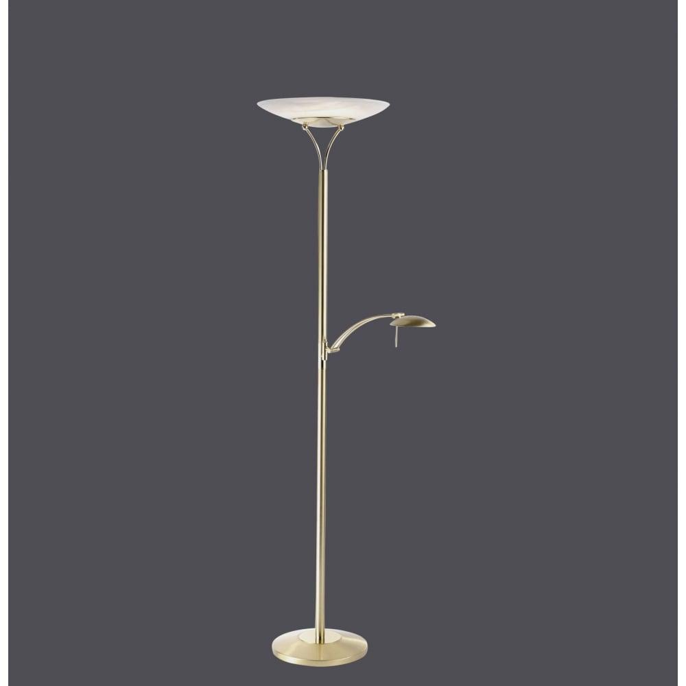 Contemporary Led Mother And Child Uplighter Floor Lamp In