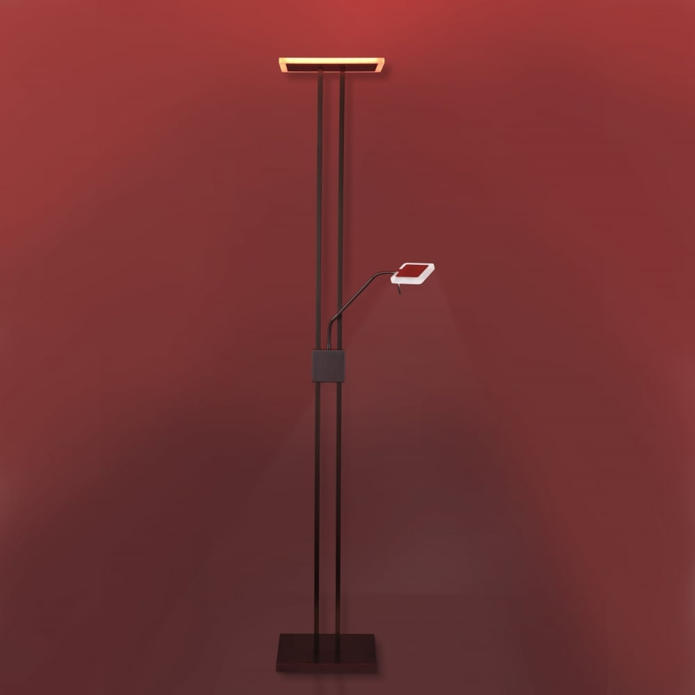 RGB LED colour changing floor lamp with remote