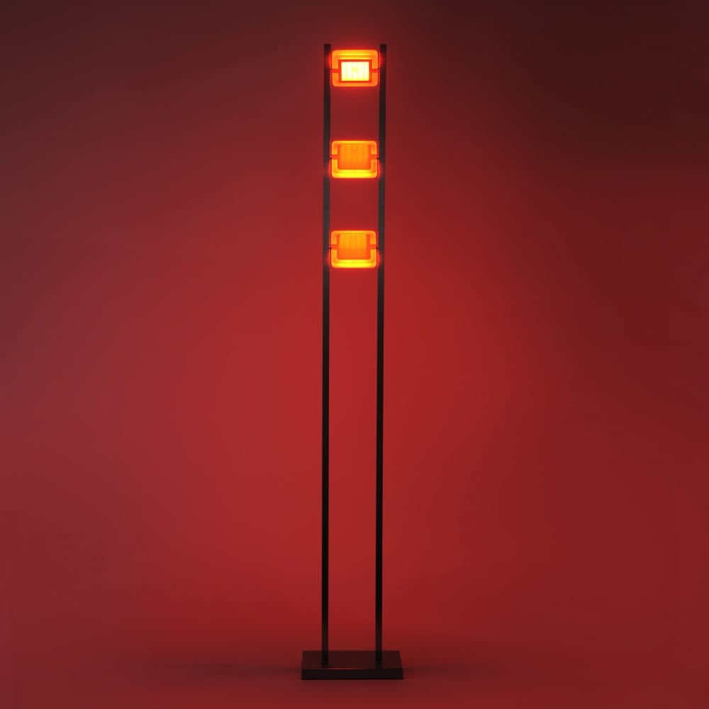 RGB colour changing LED floor lamp