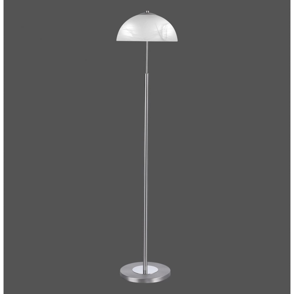 Modern classic style floor lamp in steel finish with white glass shade modern classic steel floor lamp with alabaster glass shade aloadofball Image collections