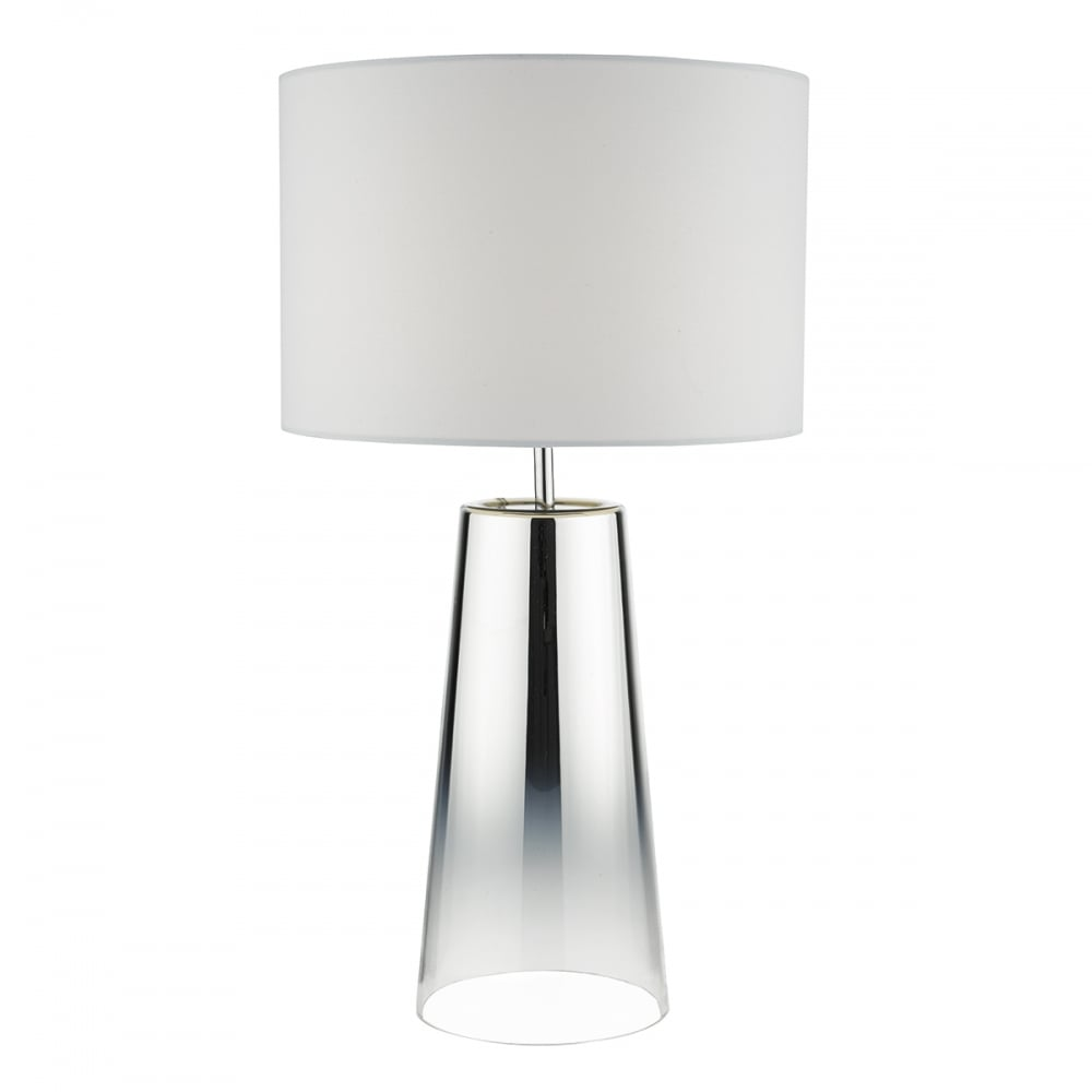 Contemporary polished chrome and glass gradient lamp with shade chrome and glass gradient table lamp aloadofball Gallery
