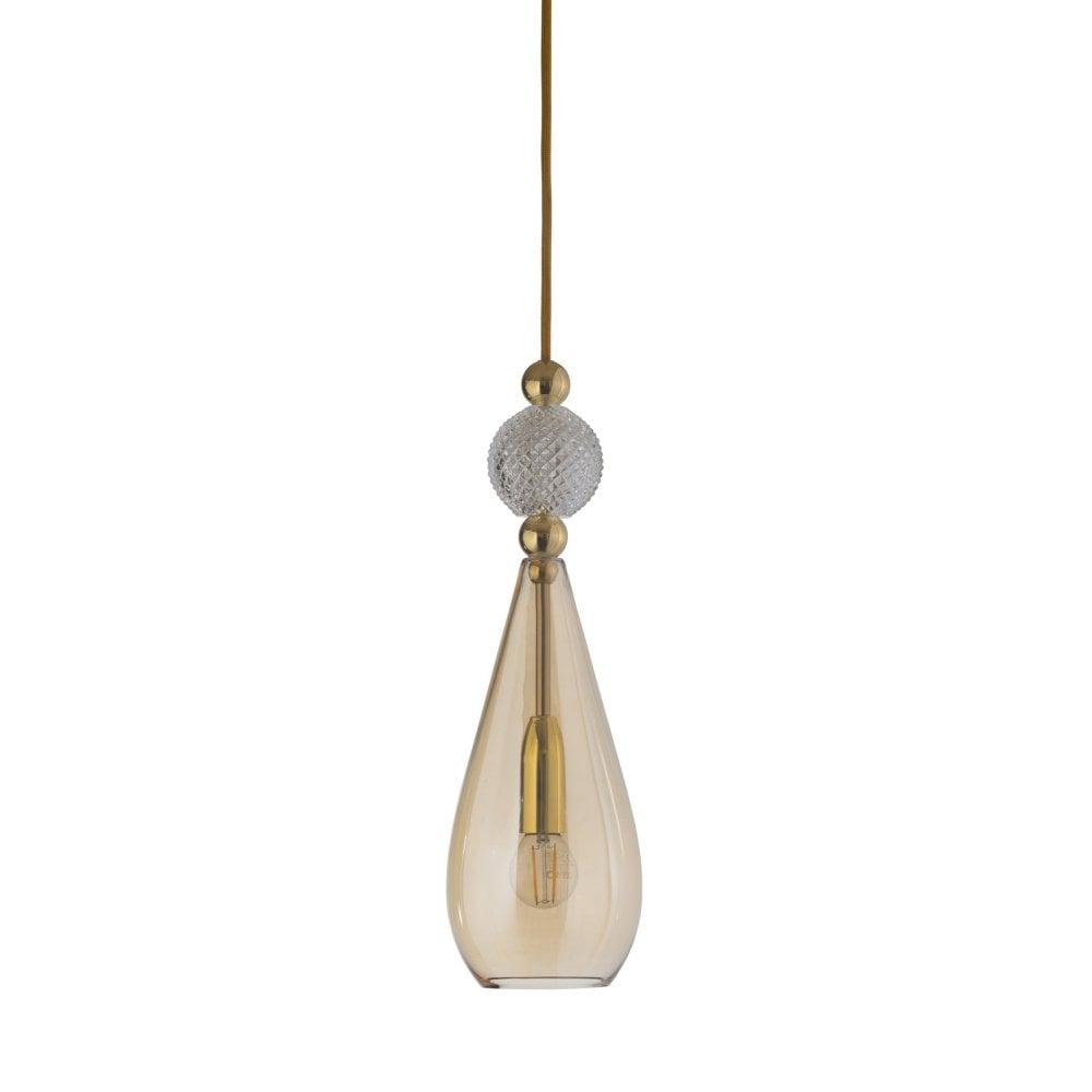Smykke modern crystal and gold smoke glass ceiling pendant light