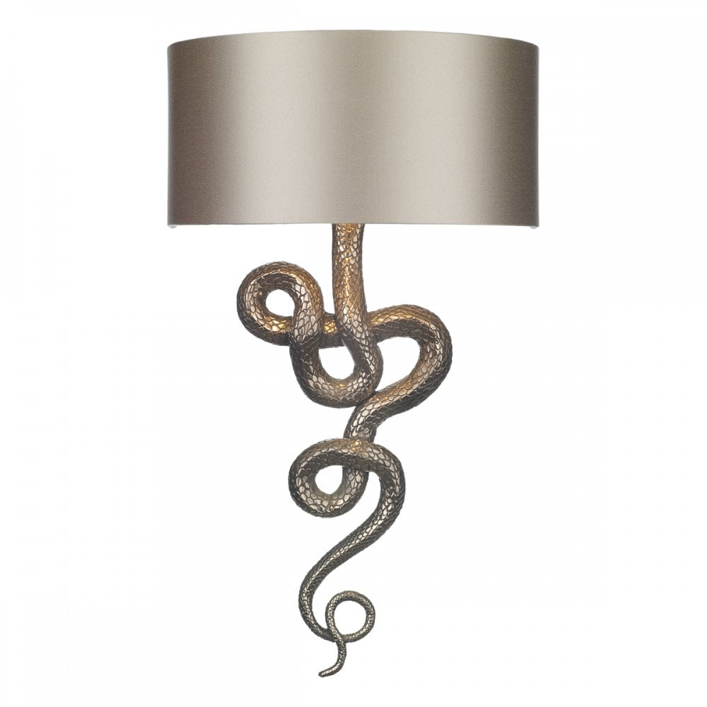 Textured Bronze Table Lamp with Satin