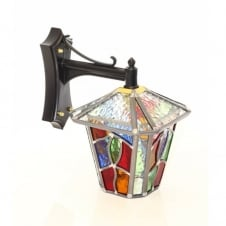 decorative multi coloured outdoor wall lantern