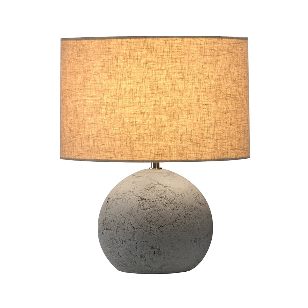 High Quality SOPRANA SOLID Concrete Round Table Lamp With Shade