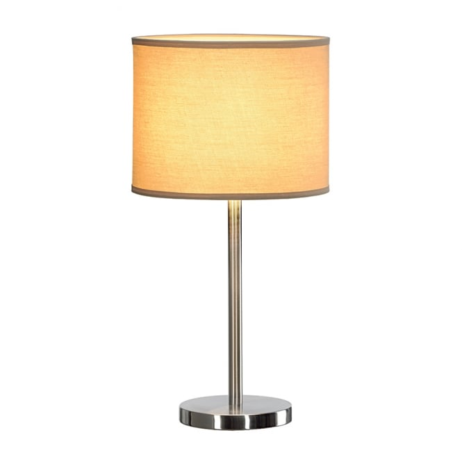 SOPRANA steel table lamp with beige shade