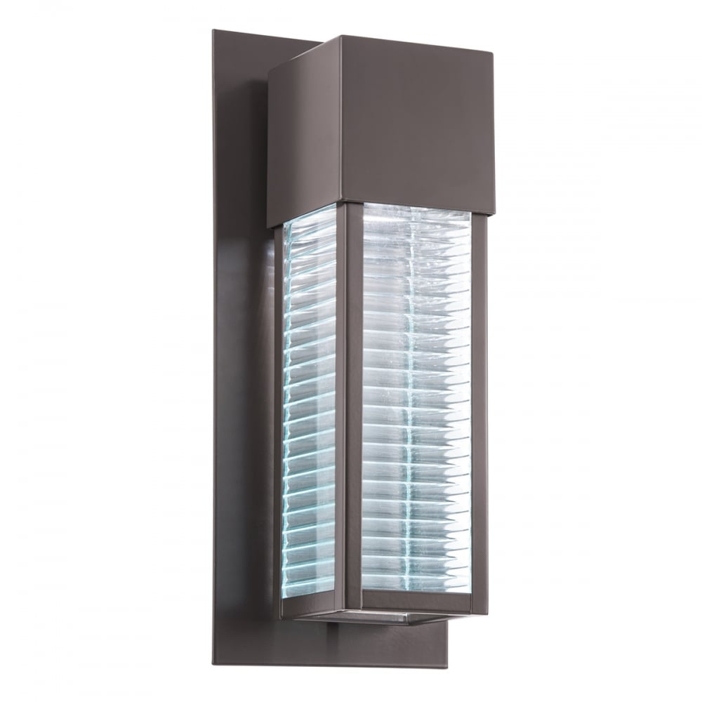 sorel modern architectural led exterior wall light in bronze