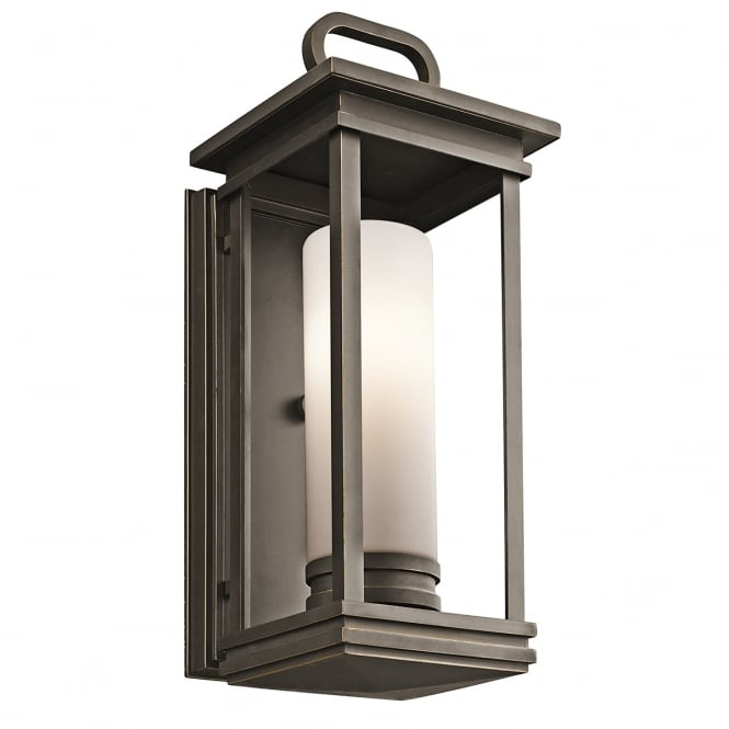 SOUTH HOPE modern classic exterior wall lantern in rubbed bronze (medium)