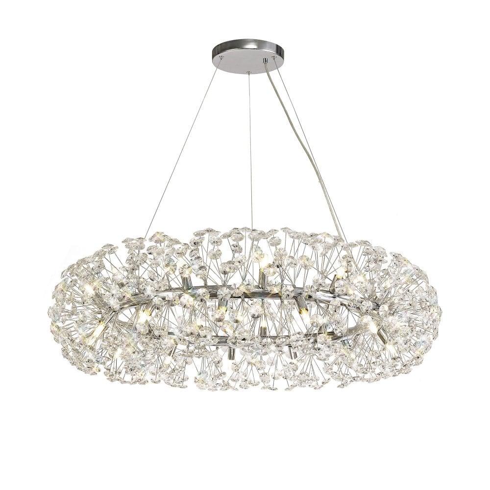 Modern Chandelier Style Ceiling Light Shade Pendant Crystal Bead Lights Lamp UK